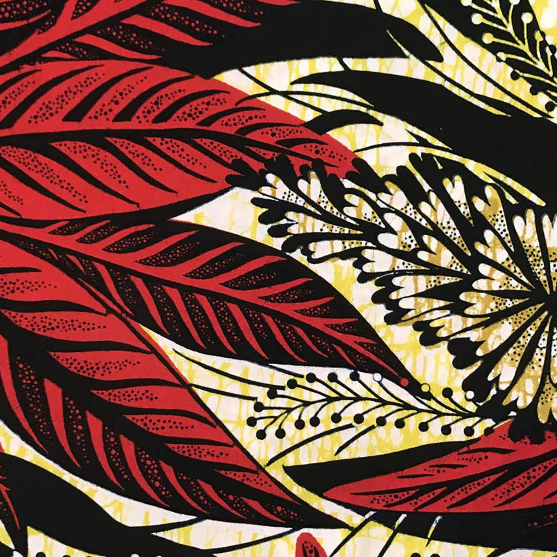 Les Capuches à Mémé - Face mask WAX Red Leaves