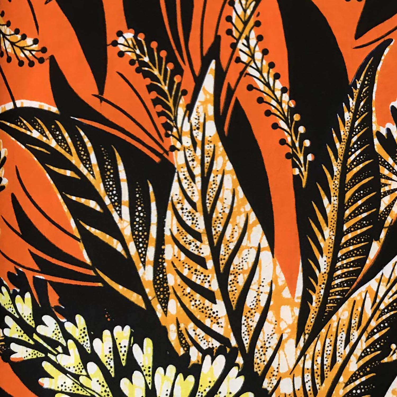 Les Capuches à Mémé - Orange Leaves WAX Face mask