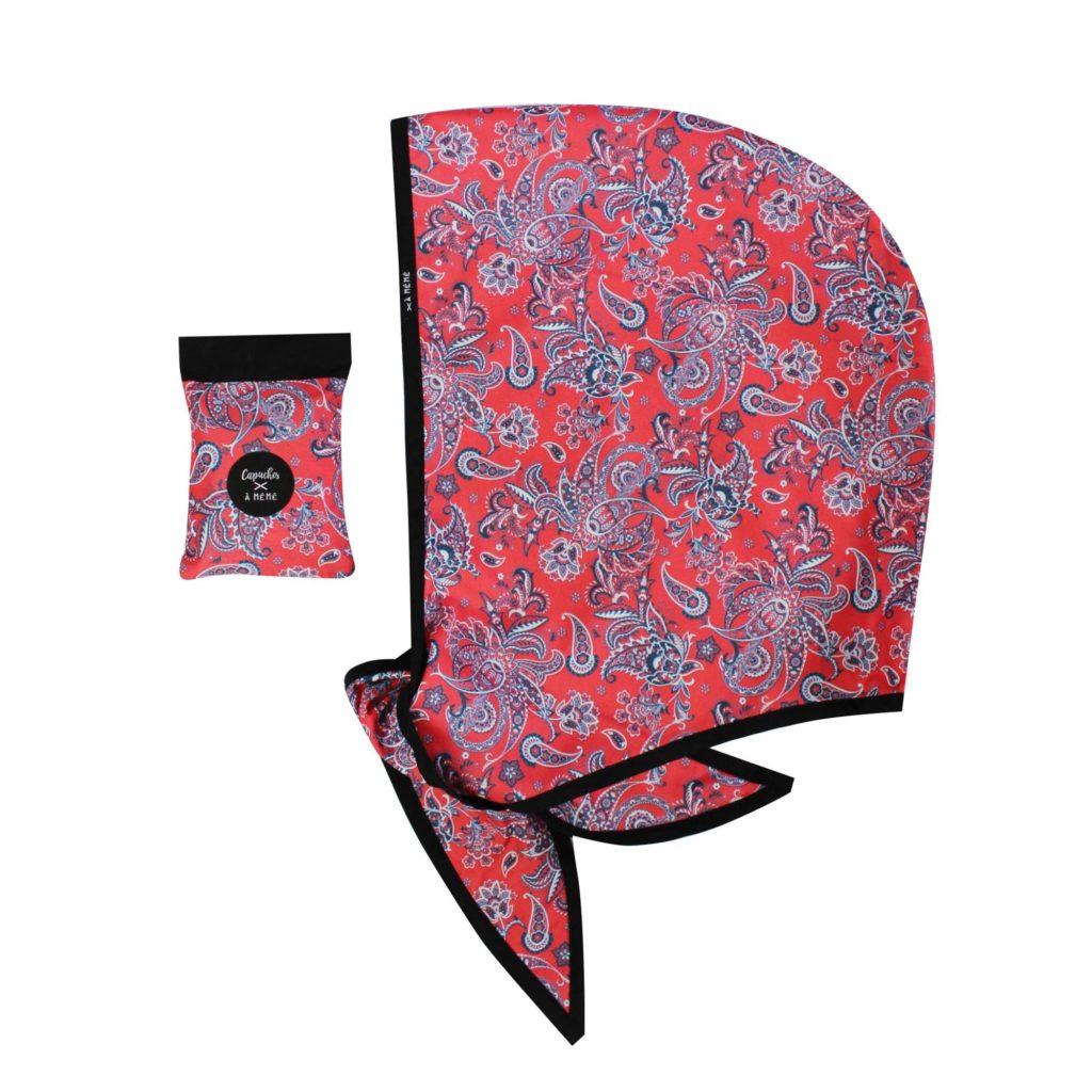 Les Capuches à Mémé - Red Print Capuche Rain Hood
