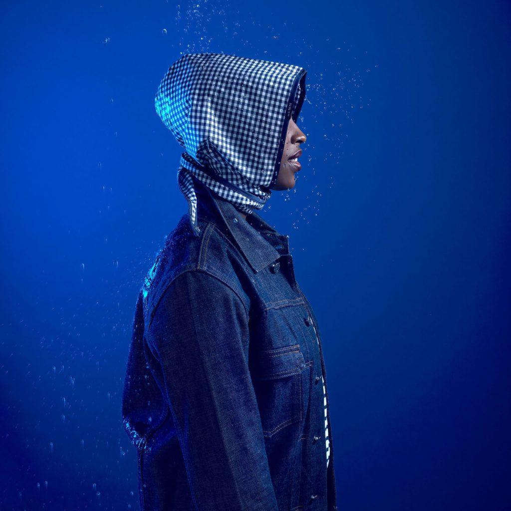Les Capuches à Mémé - Gingham Check Rain Hood