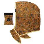 Les Capuches à Mémé - Printed Hood Mordore Bias Golden